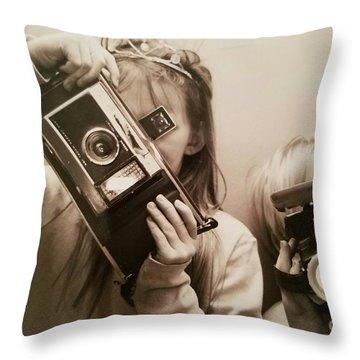 Professional Photographers Throw Pillow by Scott D Van Osdol
