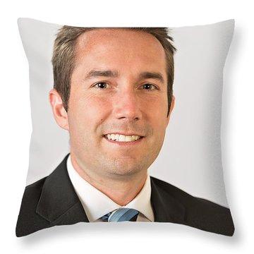 Professional White Background Throw Pillow
