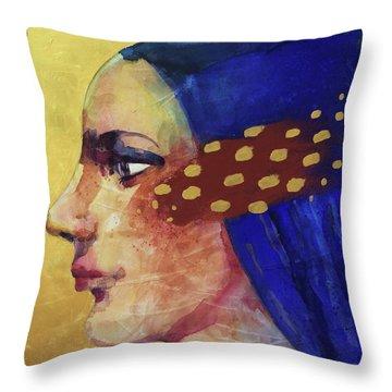 Profilo Di Donna Throw Pillow by Alessandro Andreuccetti