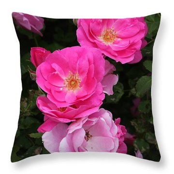 Throw Pillow featuring the photograph Profusion Of Pink by Doris Potter
