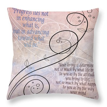 Throw Pillow featuring the digital art Progress by Angelina Vick