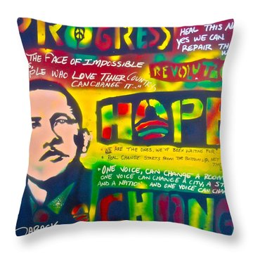 Progress Throw Pillow by Tony B Conscious