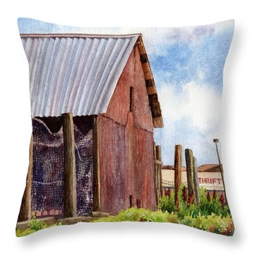 Throw Pillow featuring the painting Progression by Anne Gifford