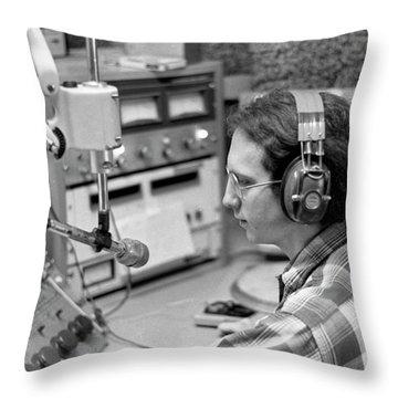 Progressive Rock Disc Jockey, 1975 Throw Pillow