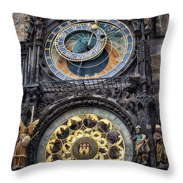 Progue Astronomical Clock Throw Pillow