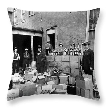 Prohibition, 1922 Throw Pillow