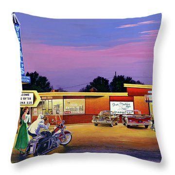 Prom Night - Vic And Al's Throw Pillow