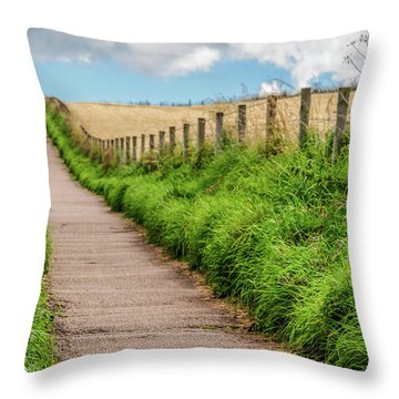 Promenade In Stonehaven Throw Pillow by Sergey Simanovsky