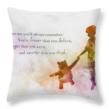 Promise Me You'll Always Remember Throw Pillow