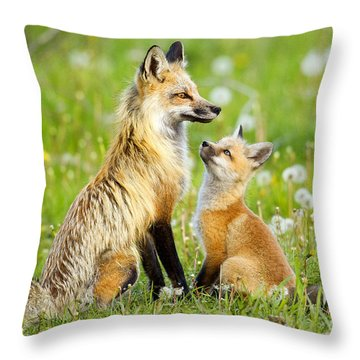Promise Of Spring Throw Pillow by Aaron Whittemore
