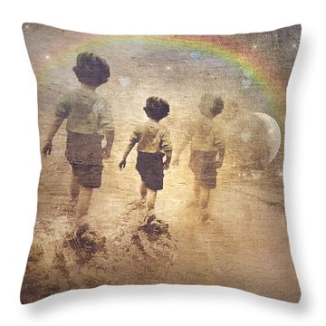 Phases Of The Journey--the Promise Of The Rainbow Throw Pillow