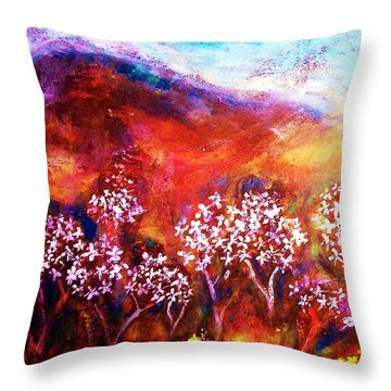 Throw Pillow featuring the painting Promise by Winsome Gunning