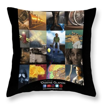 Throw Pillow featuring the digital art Promotional 01 by Dwayne Glapion