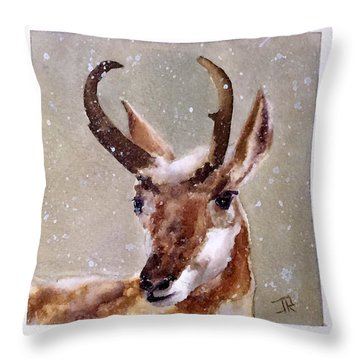 Pronghorn Throw Pillow