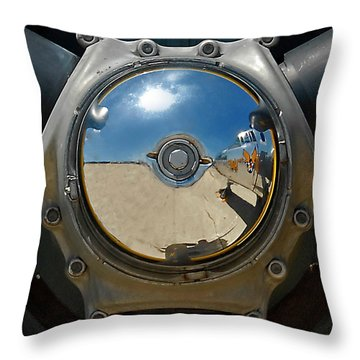 Propeller Hub Throw Pillow