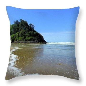 Proposal Rock Coastline Throw Pillow