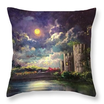 Proposal Underneath The Moon Throw Pillow