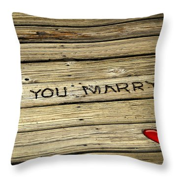 Propose To Me Throw Pillow