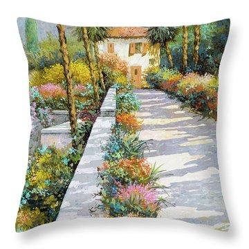 Prospettiva Del Lago Throw Pillow