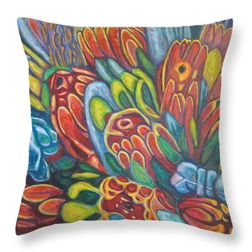 Proteas At Noon 2015 Throw Pillow