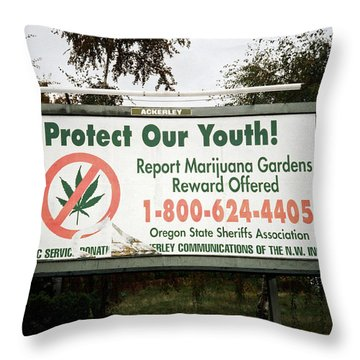 Protect Our Youth Throw Pillow