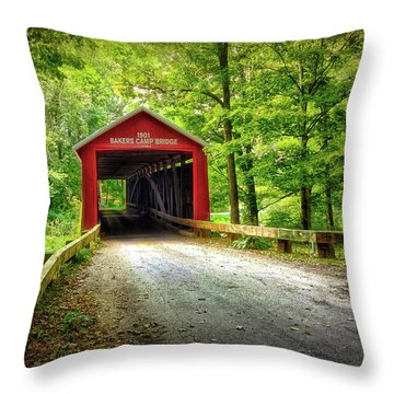 Protected Crossing In Summer Throw Pillow