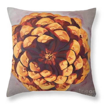 Throw Pillow featuring the painting Protected by Erin Fickert-Rowland