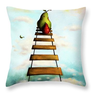 Protecting Baby 6 Throw Pillow by Leah Saulnier The Painting Maniac