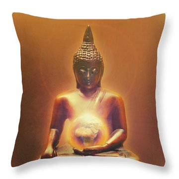 Protecting Earth Throw Pillow