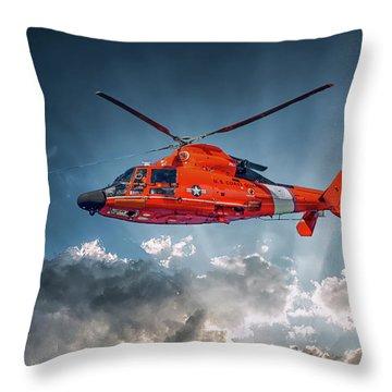 Protecting The Coast Throw Pillow