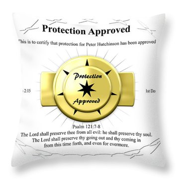 Protection Approved Throw Pillow