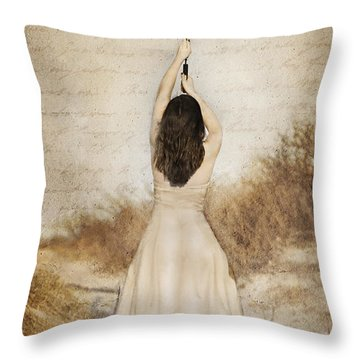 Protection Painted Lady Throw Pillow