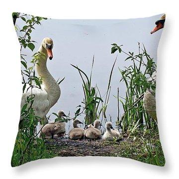 Protective Parents Throw Pillow by Joe Faherty