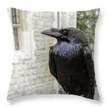 Throw Pillow featuring the photograph Protector Of The Crown by Christina Lihani