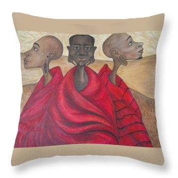 Protectors Throw Pillow