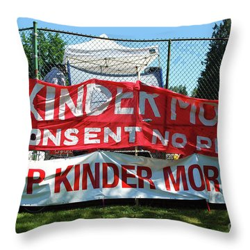 Throw Pillow featuring the photograph Protest Signs by Bill Thomson