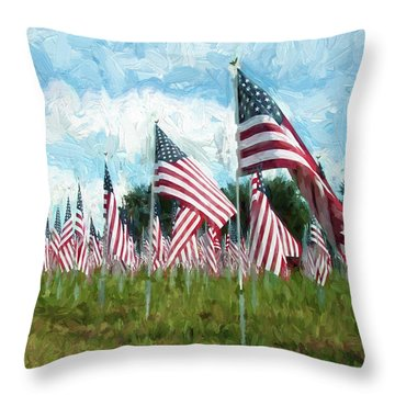 Proud And Free Throw Pillow