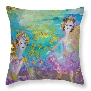 Proud Fairies Keep On Rolling Throw Pillow