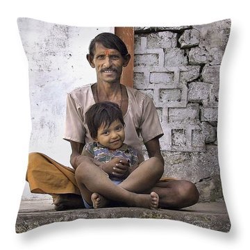 Proud Father Throw Pillow