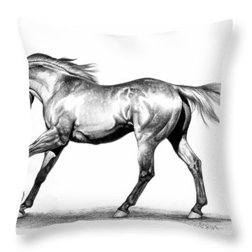 Proud Throw Pillow by Howard Dubois