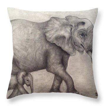 Proud Mama Throw Pillow