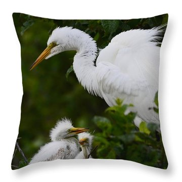 Proud Mom  Throw Pillow by Kathy Gibbons
