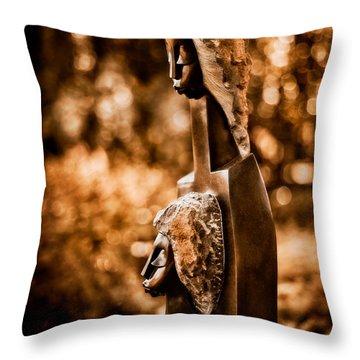 Proud Of My Daughter Throw Pillow by Venetta Archer