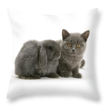 Proud Of My Grey Hare Throw Pillow