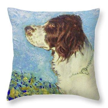 Proud Spaniel Throw Pillow