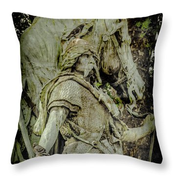 Paris, France - Proud Warrior And The Pigeon Throw Pillow