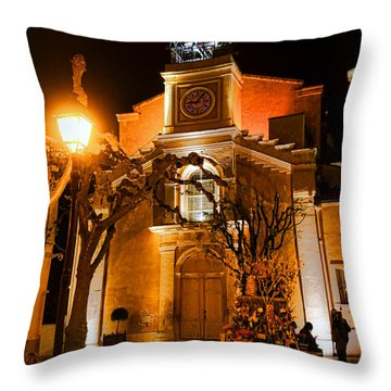 Throw Pillow featuring the photograph Provencal Night by Olivier Le Queinec