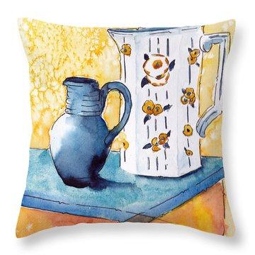 Provencale Pichets No 1 Throw Pillow by Pat Katz