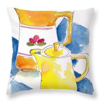 Provencale Pichets No 2 Throw Pillow by Pat Katz