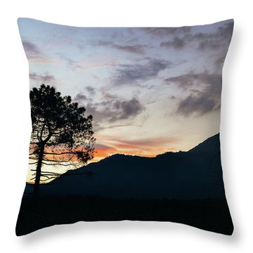 Provence, France Sunset Throw Pillow